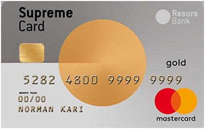 resurs bank supreme card gold